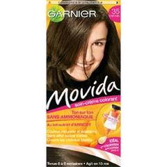 Coloration creme ton sur ton MOVIDA, chatain n°35