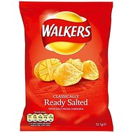 Walkers Crisps - Ready Salted (34.5g)
