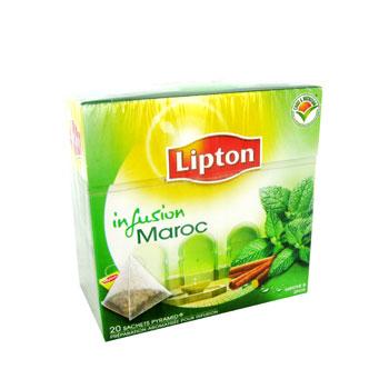 lipton infusions maroc 20 sachets pyramide lot de 3 tous les produits infusions prixing. Black Bedroom Furniture Sets. Home Design Ideas