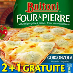 Pizzas Gorgonzola Mozzarella Roquefort - Four à Pierre TOP AFFAIRE