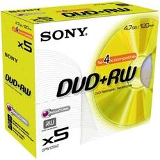 5 DVD + RW SONY 4,7GO, jewel case