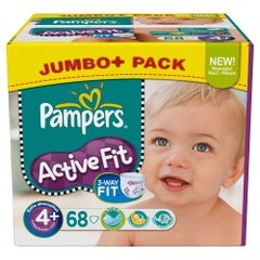 Couches Pampers Active Fit Jumbo box T4 + x68