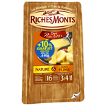 Fromage raclette Richemonts Nature/ gout fume 400g