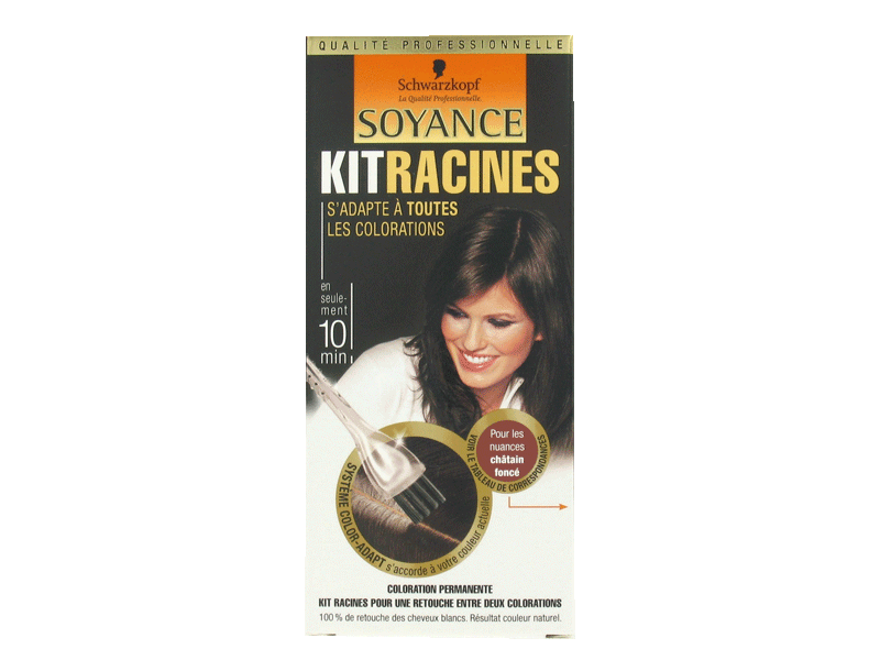 Kit coloration racines SOYANCE, chatain fonce