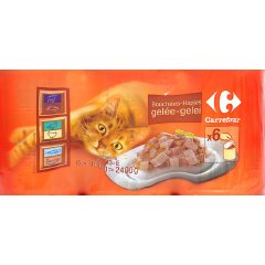 Bouchees en gelee pour chat