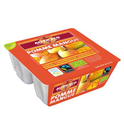 Specialite de fruits Bio Pomme Mangue Alter Eco 4x100g