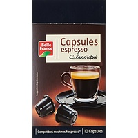Belle France Set de 10 Capsules Expresso Classique 52 g - Lot de 5