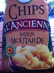 Chips saveur moutarde U paquet de 135g