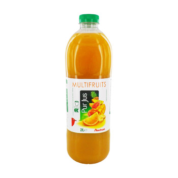 Jus multifruits 2 L Pur jus.