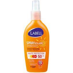 Labell, Spray solaire hydratant haute protection FPS 50, le spray de 200ml