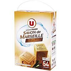 lessive en poudre au savon de marseille u 54 doses 3 51kg tous les produits poudre et. Black Bedroom Furniture Sets. Home Design Ideas