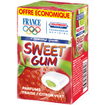 Hollywood sweet gum fraise citron vert dragees x3 -66g