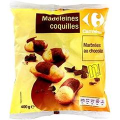 Madeleines coquilles marbrees au chocolat