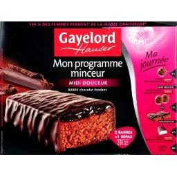 barres proteinees au chocolat fondant gaylord hauser 240g tous les produits plats cuisin s. Black Bedroom Furniture Sets. Home Design Ideas