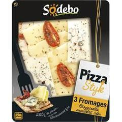 Sodebo pizza style 3 fromages 220g