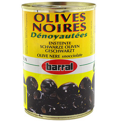 Olives noires denoyautees 1/2 180g