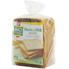 Pain de mie Bio Village Nature - 500g