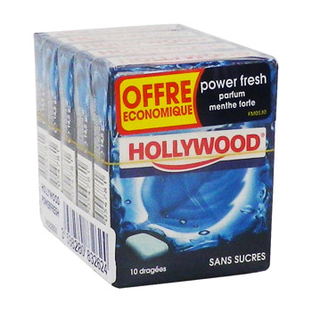 Hollywood dragées powerfresh étuis x5-72,5g