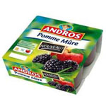 Andros dessert fruitier pomme mure 4x100g