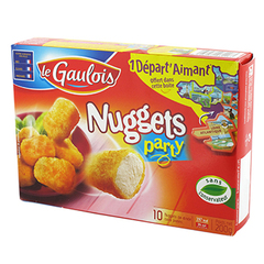 Nugget's Party de dinde LE GAULOIS, 10 pieces, 200g
