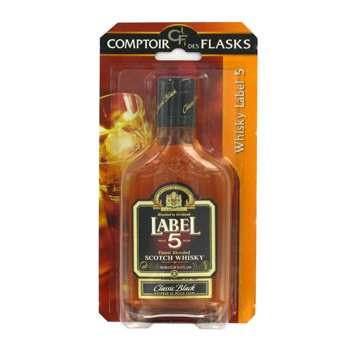 Label 5, finest blended scotch whisky, Classic Black