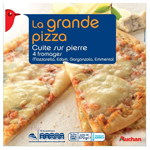 Auchan grande pizza 4 fromages 570g