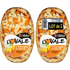 Sodebo pizza ovale 3fromages x2 -400g