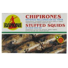 Calamars entiers farcis a l'encre RAMONA, 115g
