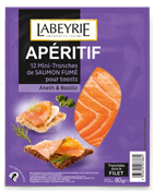 Saumon fumé pour toasts aneth/basilic Labeyrie