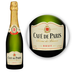 Mousseux brut Blanc de Blanc CAFE DE PARIS, 75cl