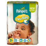 Pampers new baby midi pack change x35 taille 3