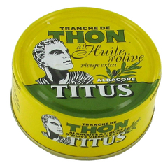 Thon albacore huile olive extra vierge TITUS bte 1/5 160g