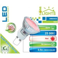 SPOT LED AMBIANCE HOMELIGHTS 1W GU10 ROUGE