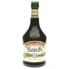 Liqueur cream Baird's Irish whiskey et creme 70cl
