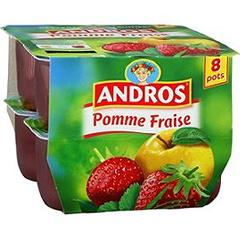Andros compote pomme fraise 8x100g