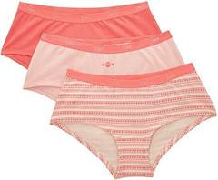 3 Boxers Pocket Coton DIM, rose, taille 40/42