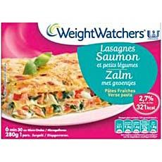 Weight Watchers, Lasagne saumon et petits legumes, la barquette de 280g