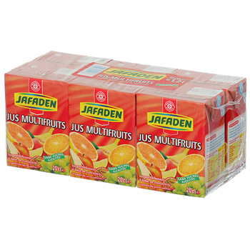 Jus multifruits Jafaden 6x20cl