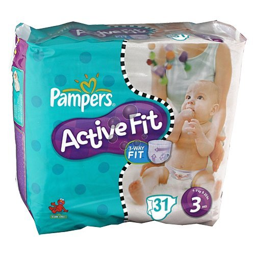 Pampers active fit paquet midi 4/9kg change x31 taille 3