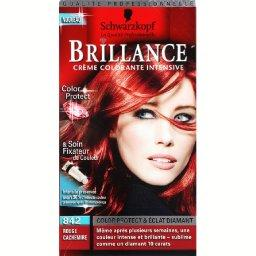 Brillance - Creme colorante intensive permanente, rouge cachemire 842, la boite de 142,5ml