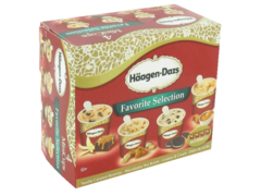 HAAGEN DAZS SPECIALITE INDIVIDUELLE MINI-CUPS CLASSIQUE FAVORITE SELECTION X4 400ML