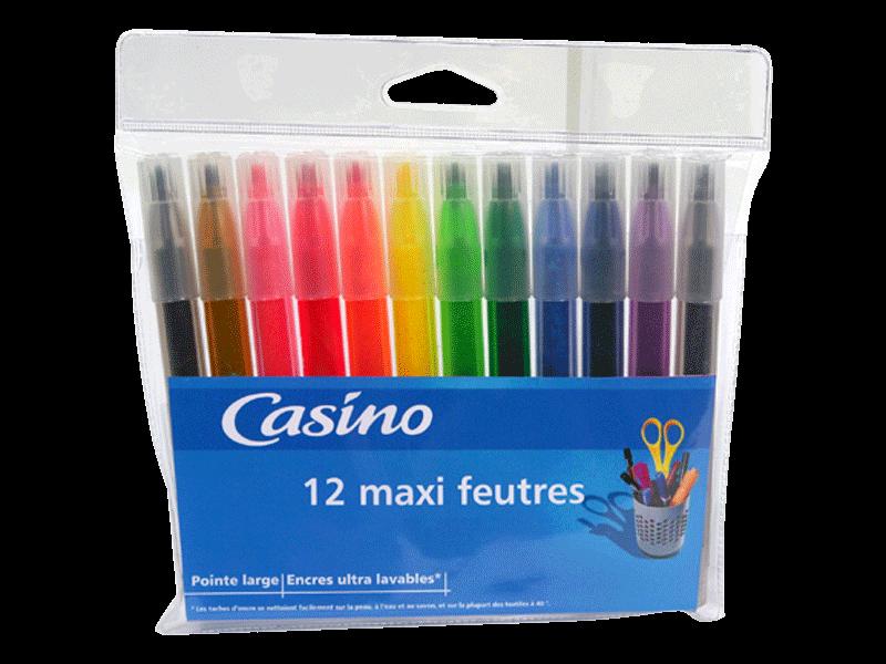 12 feutre de coloriage maxi tous les produits stylos - Maxi coloriage ...