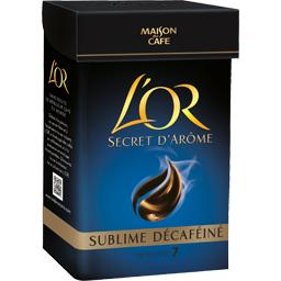 Cafe moulu decafeine sublime L'OR Secret d'Arome, 250g