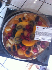 Tarte multifruits, 6 parts, 720g