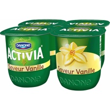 Yaourts saveur vanille Activia
