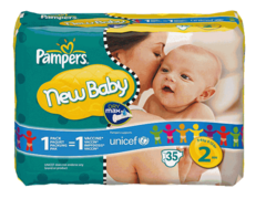 Pampers new baby mini paquet 3/6 kg x 35