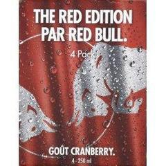 Boisson energisante gout cranberry The Red Edition