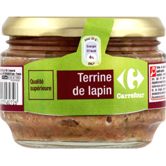 Terrine de lapin, qualite superieure