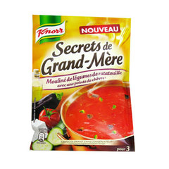 Soupe deshydratee moulinee de legumes de ratatouille et pointe de chevre Secret de Grand'Mere KNORR, 78g, 75cl