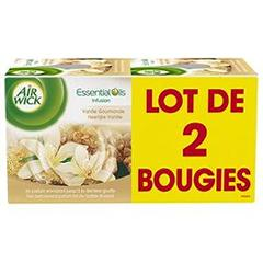 Bougies Air Wick Vanille x2